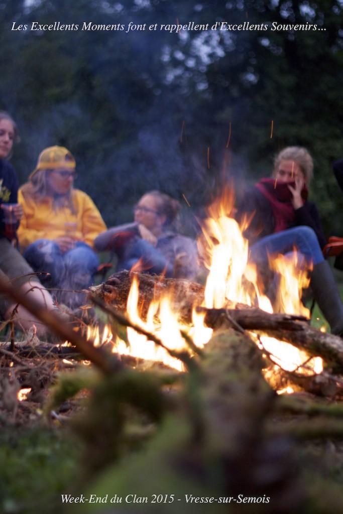 Isatis, Aga, Acanthiza et Oncilla autour du feu...